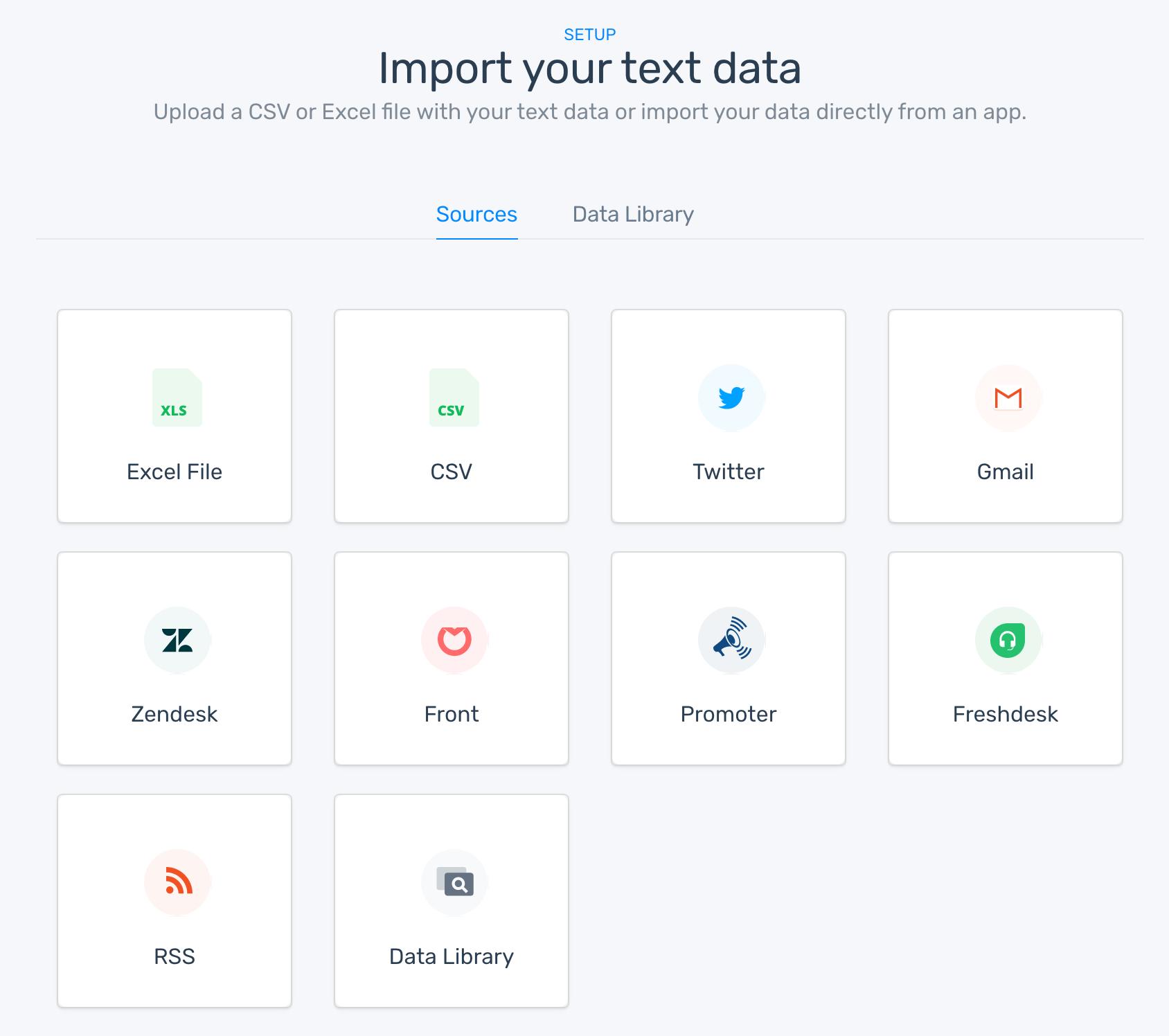 MonkeyLearn text data import