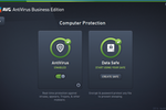 AVG Antivirus Business Edition Screenshot: Nebale AntiVirus for real-time protection and protect data with Data Safe