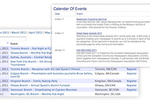 Exware Association Management screenshot: Events can be created, managed, and shared with Exware