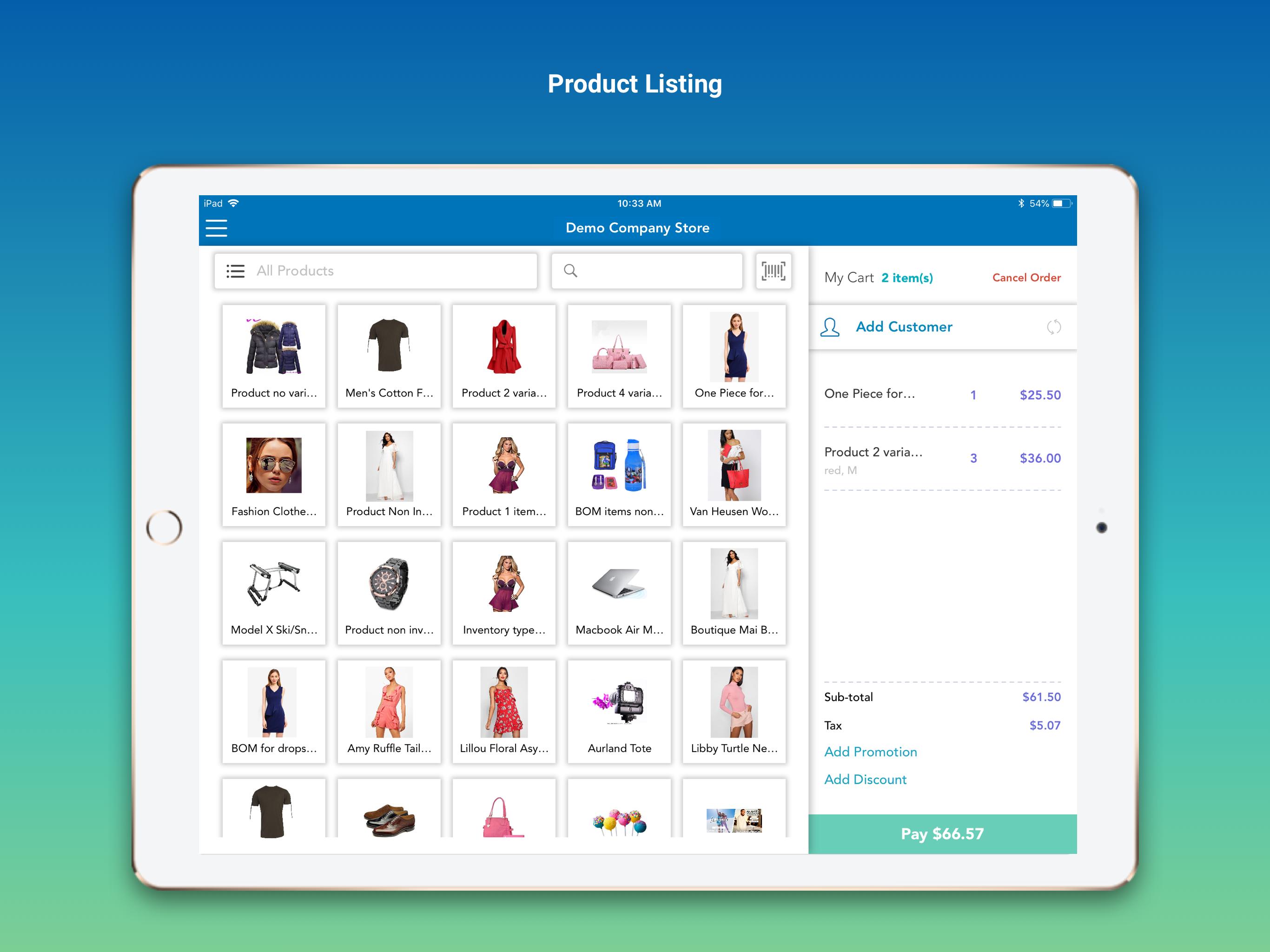 Systum product listing screenshot