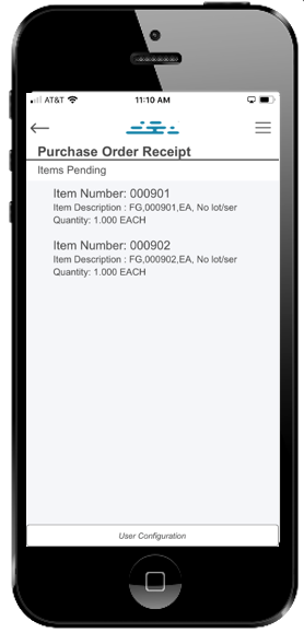 DSI®'s Cloud Inventory® PO Receipt Items Pending