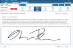 SkyBoss screenshot: Billing and invoicing capabilities include the ability to capture customer signatures digitally, and log all transaction records