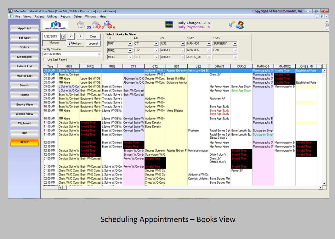 Scheduling appointments