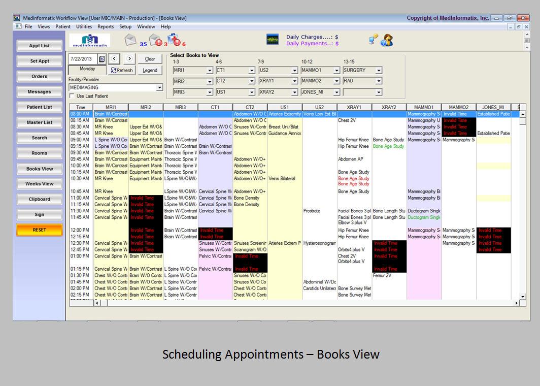 MedInformatix Software - Scheduling appointments