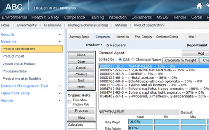 ERA EH&S Software Software - Dashboard