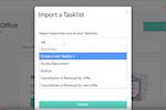 Docketwise screenshot: Docketwise tasklist import