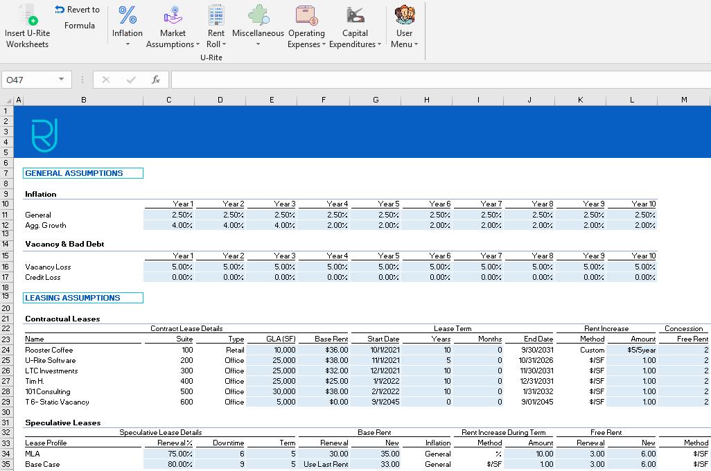 U-Rite Software - U-Rite dynamic calculations