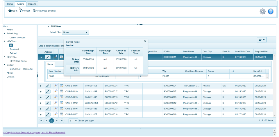 Dynamics TMS Dock Scheduling