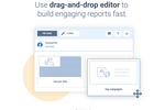 Capture d'écran pour Whatagraph : Use the drag-and-drop editor to build engaging reports fast with Whatagraph