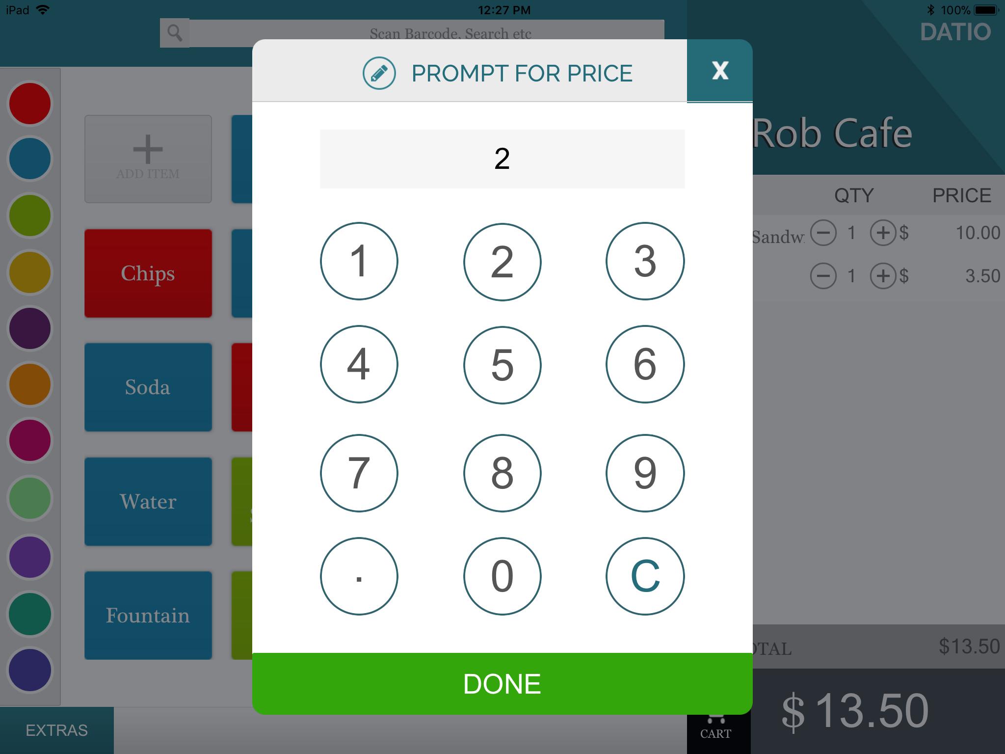 Price Screen