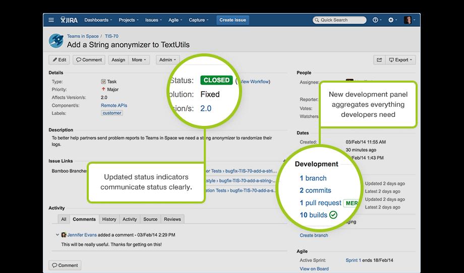 Jira Software - Development Panel