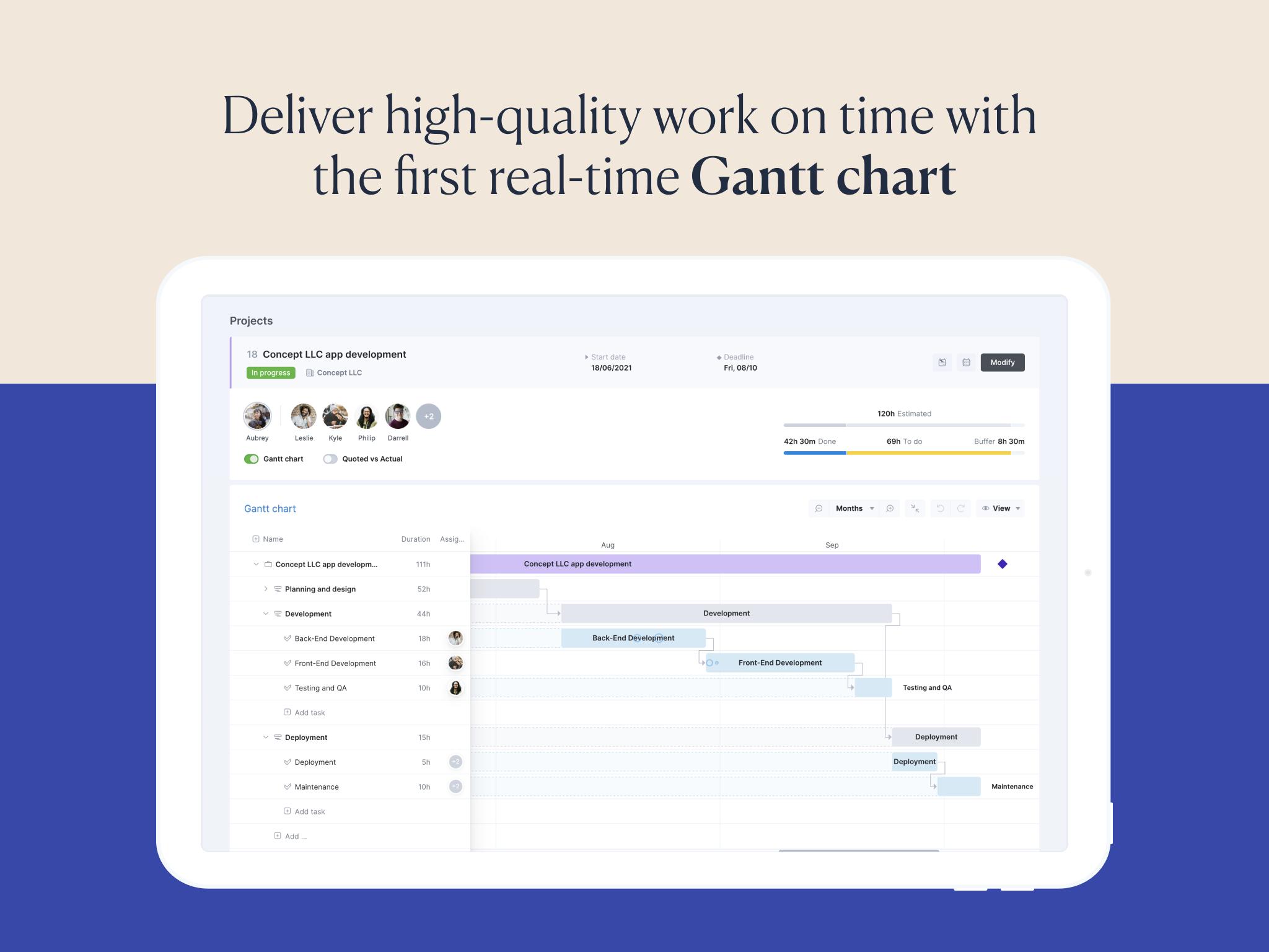 Scoro Software - Real-time Gantt chart