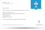 BigChange screenshot: Automated, customizable emails and SMS text notifications