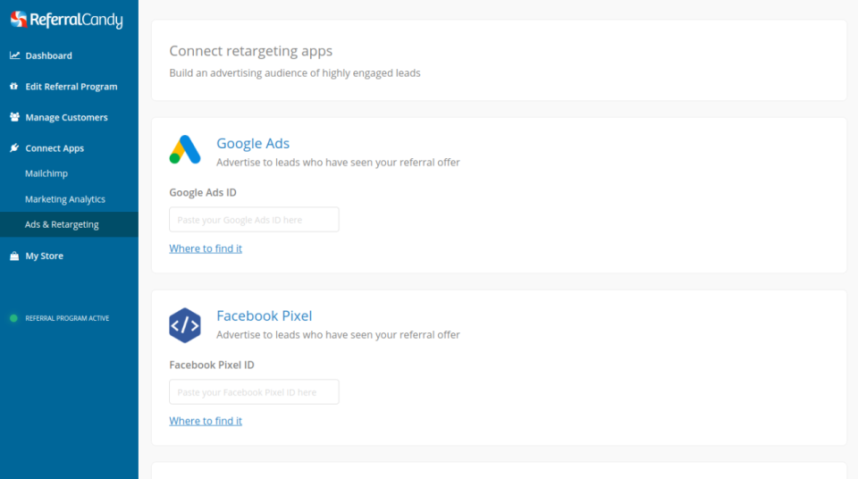 ReferralCandy GoogleAds screenshot