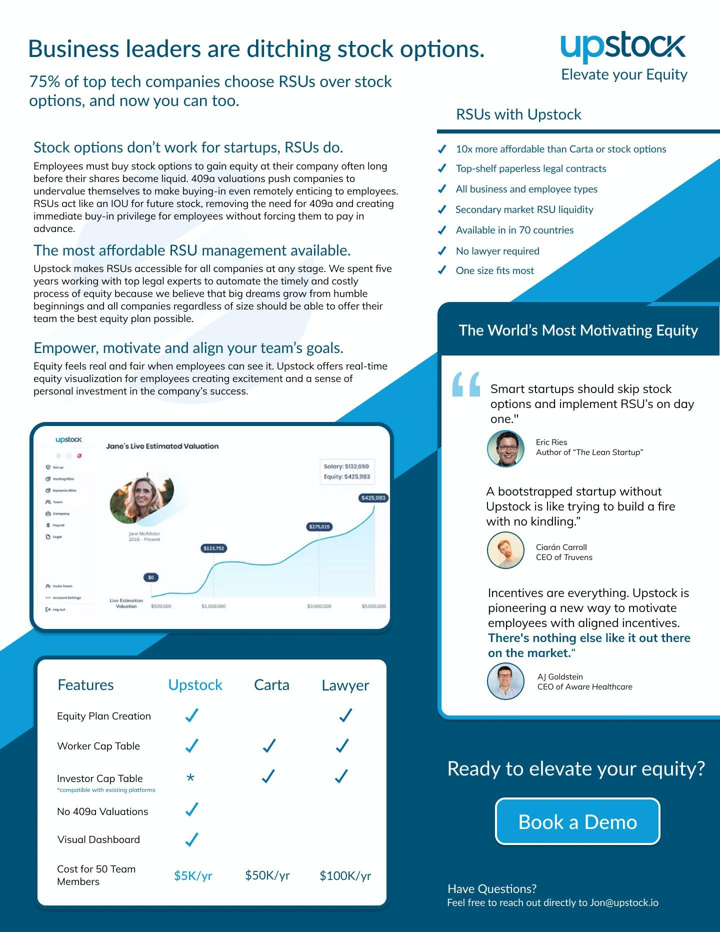 Upstock Software - Upstock 1-pager