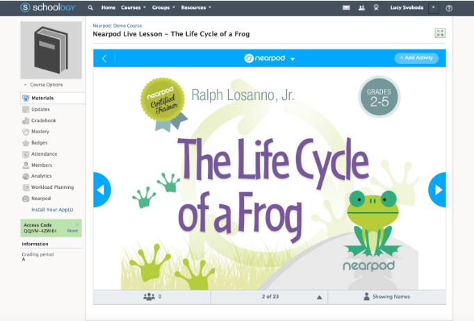 Nearpod Software - Nearpod live lesson