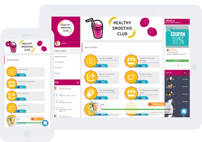Gamified loyalty programs for desktop and mobile
