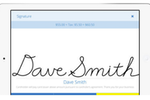 SmartSwipe screenshot: Capture digital signature
