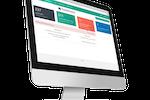 WorkBright screenshot: Dashboard-based online interface as shown on desktop Mac computer