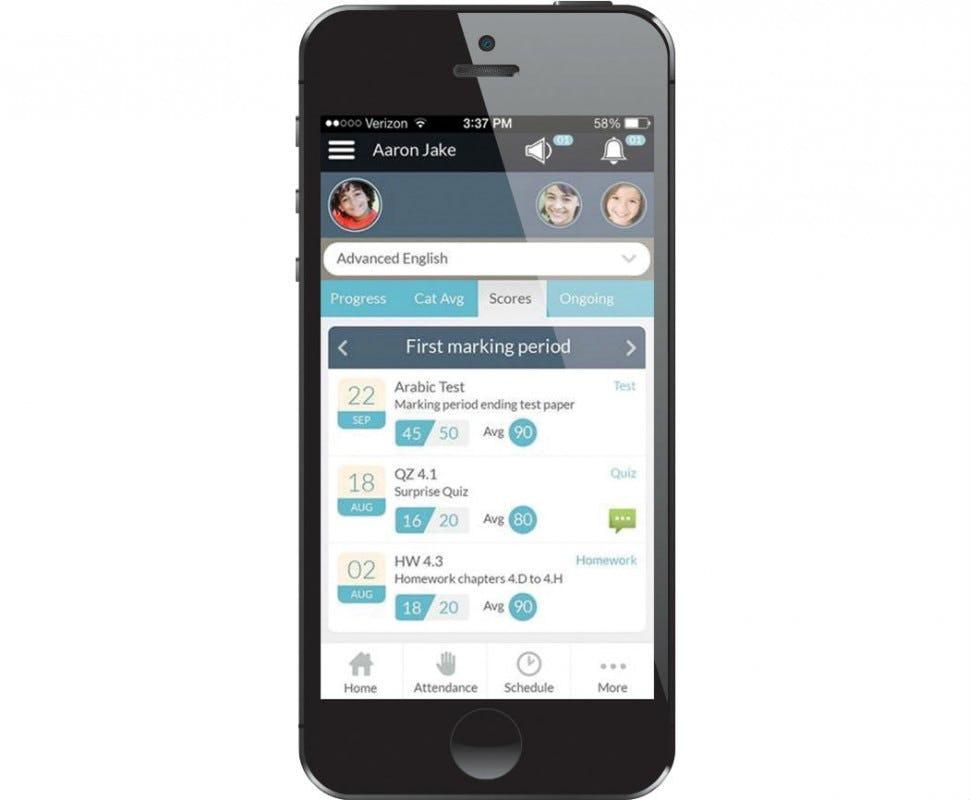 Administrator's Plus Software - Parent portal