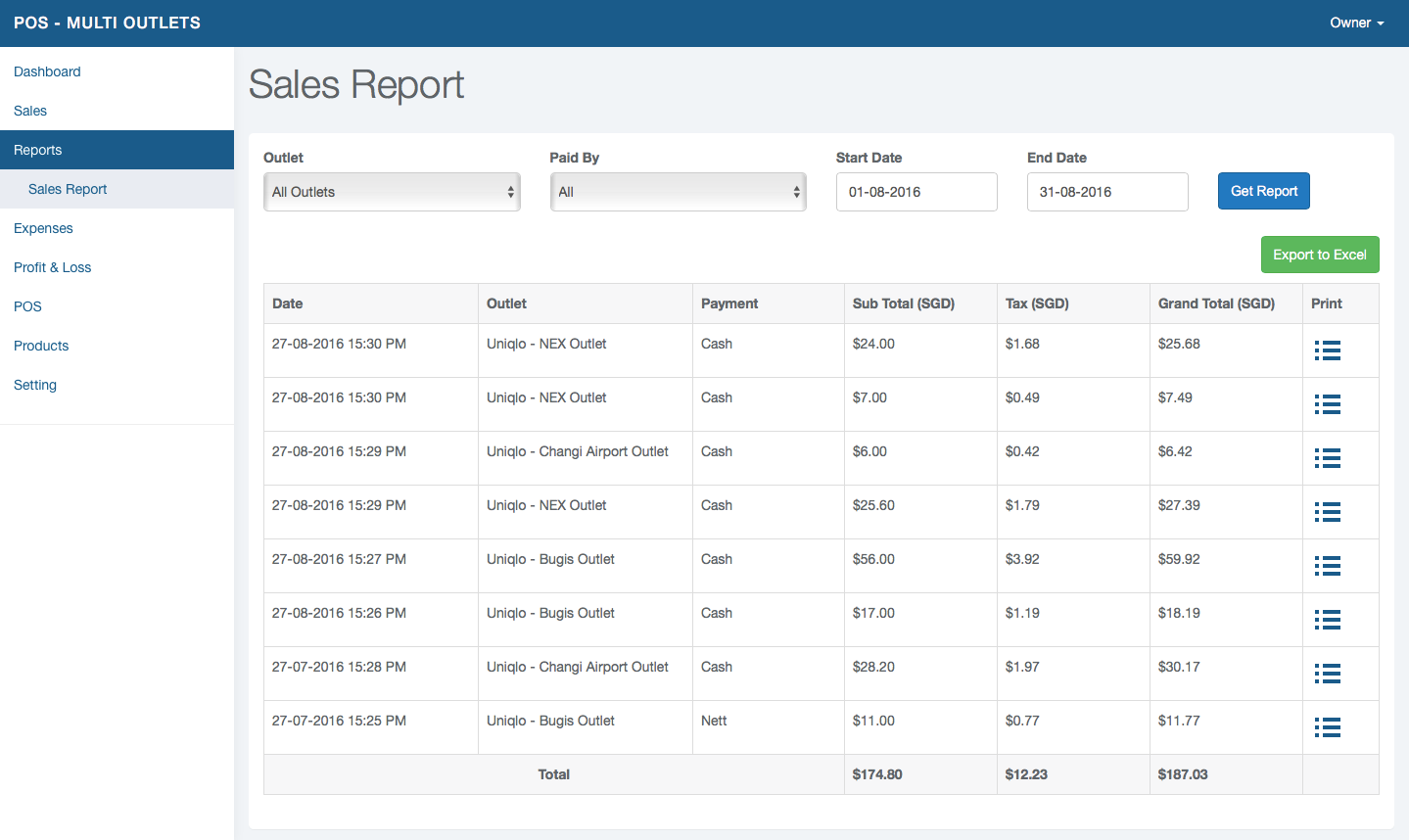 Alfa POS Software - Reports