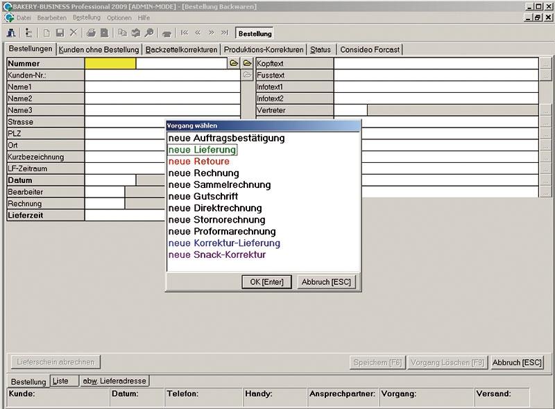 BBN screenshot: BBN course selection