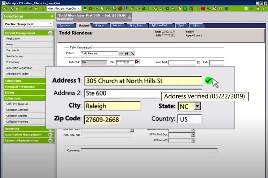 Melissa Data Quality Suite verified address