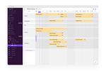 Capture d'écran pour Toggl Plan : Project timeline - plan project steps on a colorful timeline and have a clear overview of when things need to be done. Change of plans? The simple drag-and-drop interface makes flexible planning easy.