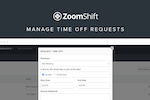 ZoomShift screenshot: Manage Time Off Requests