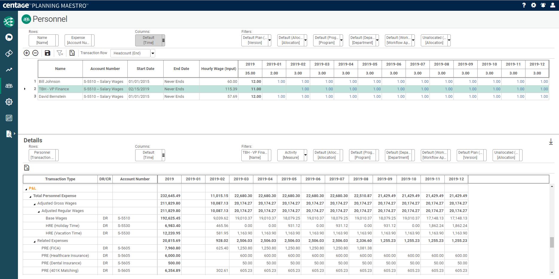 Planning Maestro Software - Workforce Planning