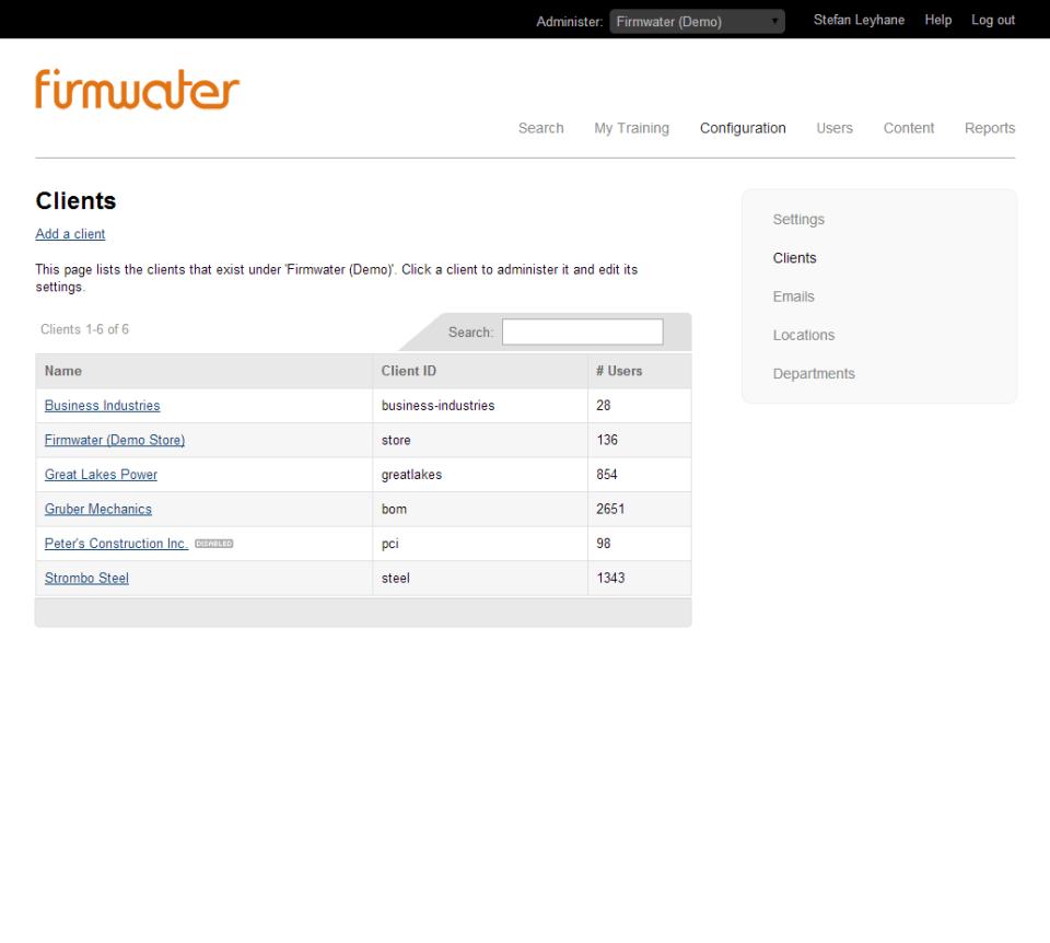 Firmwater LMS Software - 3