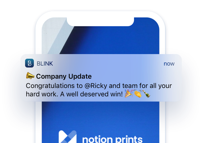 Mobile notifications. Make sure important messages are received with push notifications.