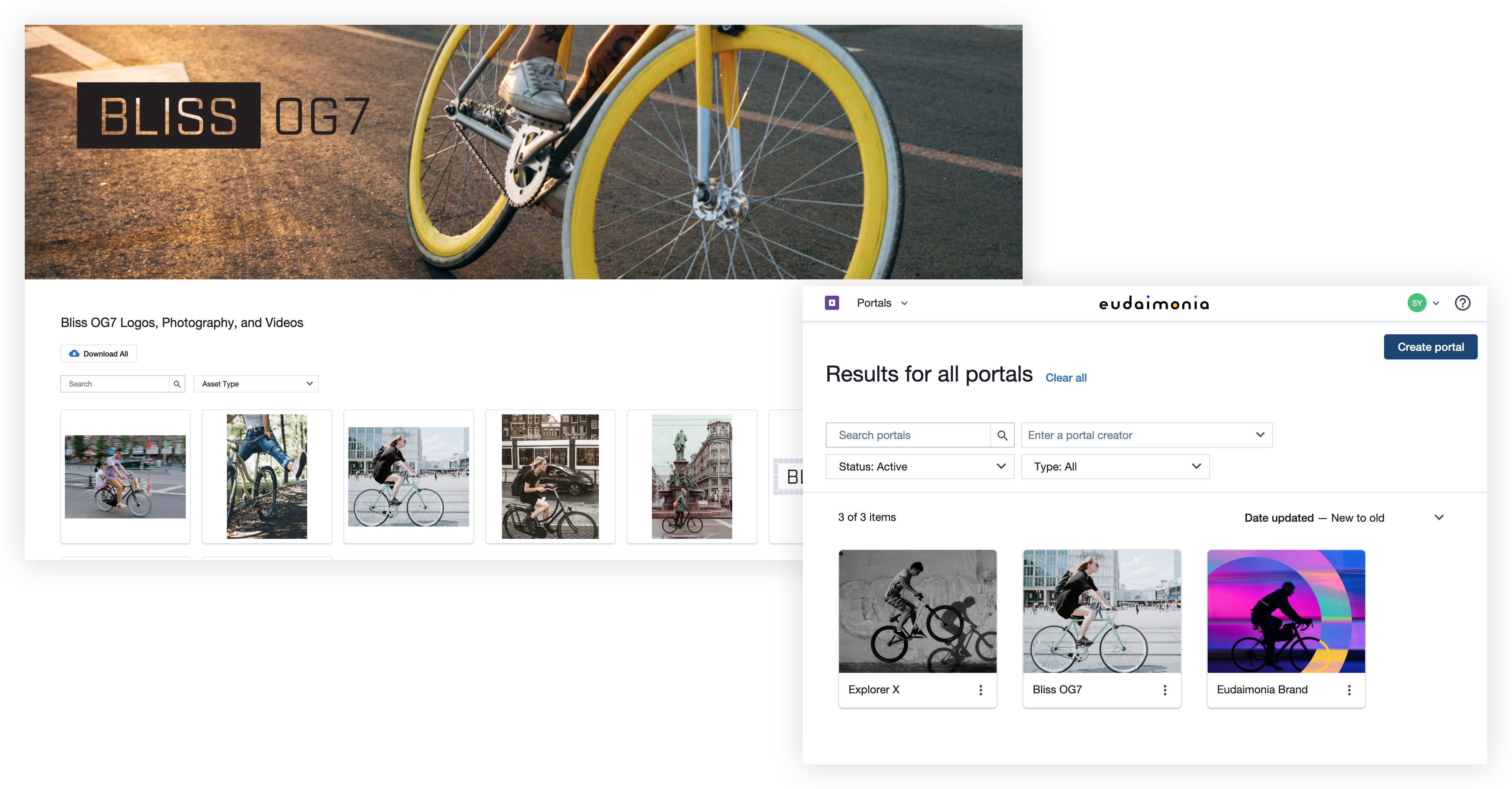 Create digitized brand portals, microsites, and video galleries.
