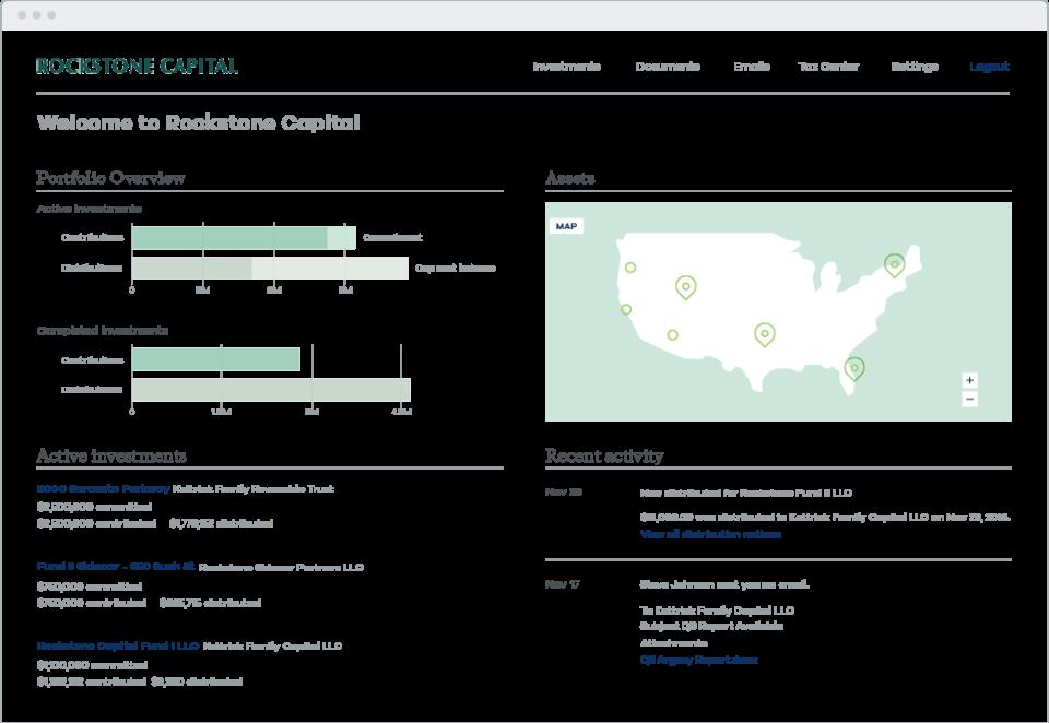Juniper Square portfolio overview screenshot