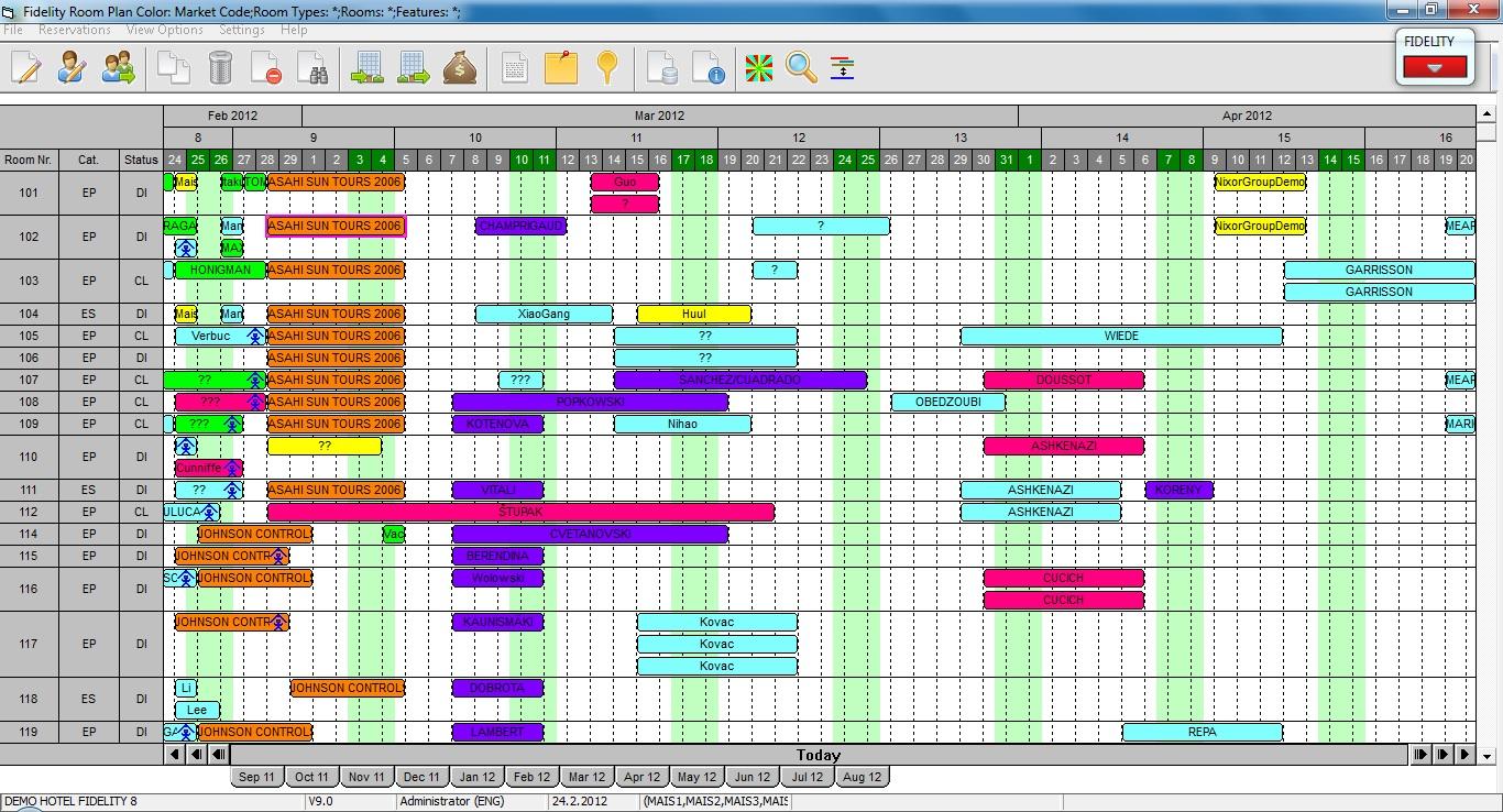 Fidelity PMS Software - Room plan diagram