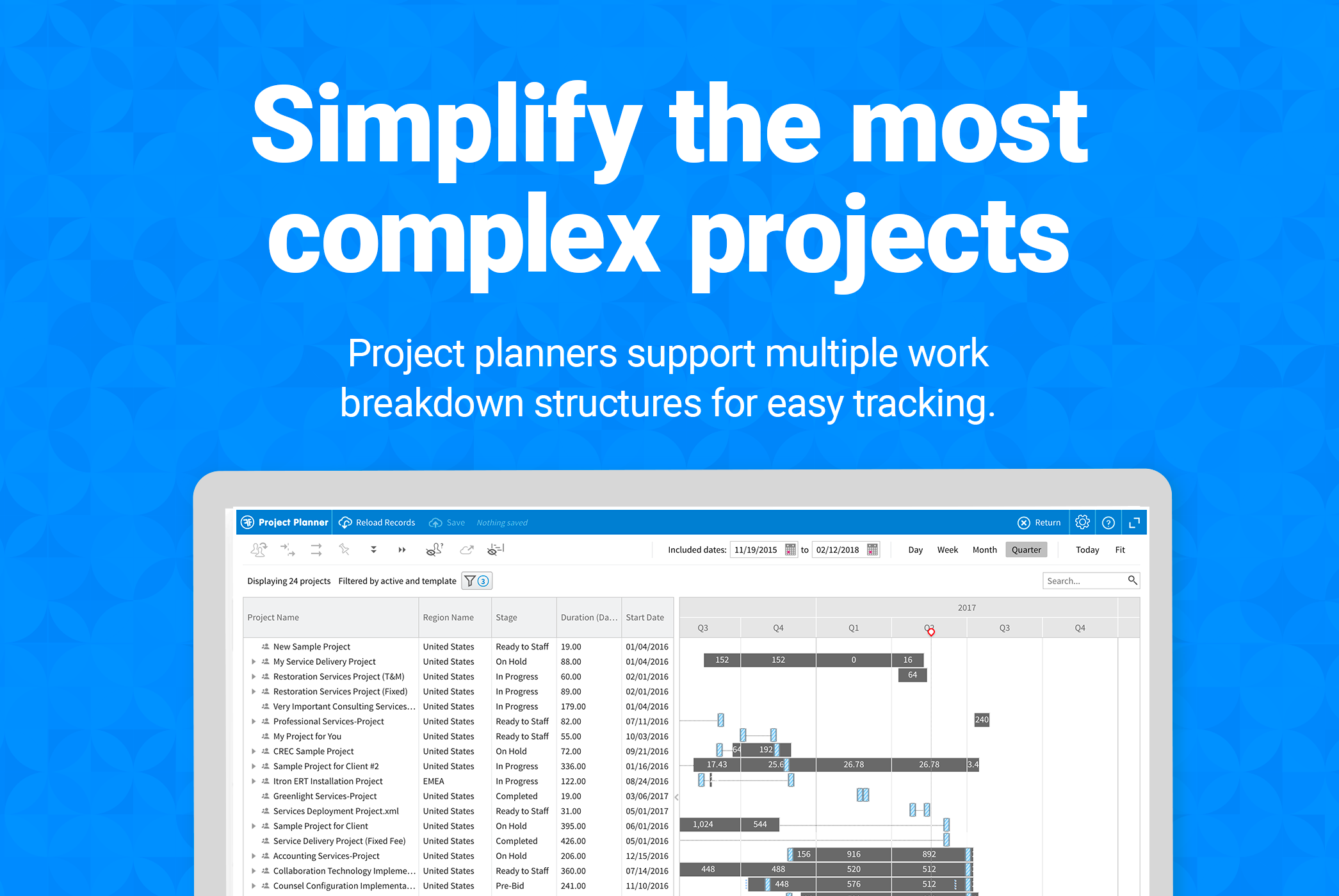 Project planners