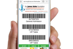 Event Essentials screenshot: Mobile ticket redemption with barcodes and QR codes