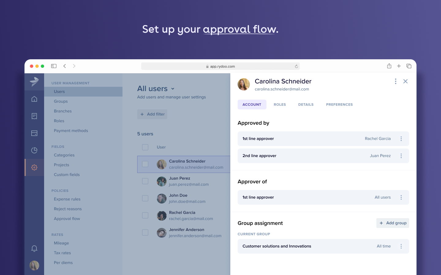 Set up your approval flow