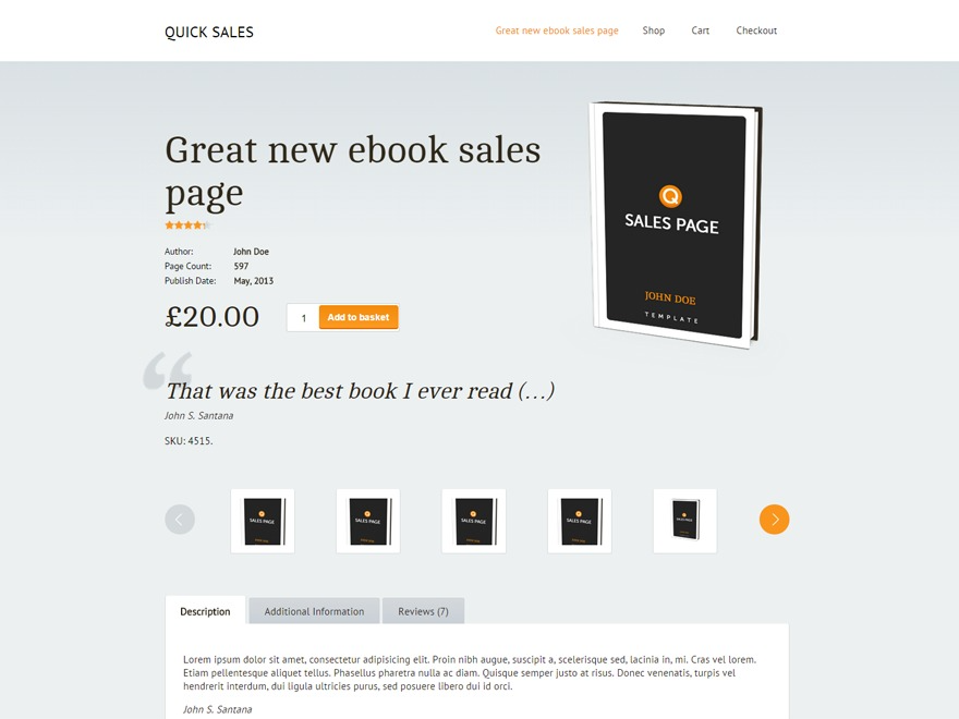 Quick Sales integrates with eCommerce platforms
