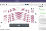 Capture d'écran pour Ticket Tailor : Create seating charts in minutes. From dinner galas, to the theatres and stadiums. Automate social distancing rules, avoid orphan seats and add images to bring seating chart to life.
