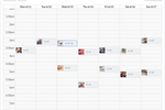 Hopper HQ screenshot: View and plan posts by week or month, and drag and drop to reorder