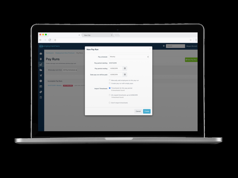 Employment Hero Software - Employment Hero Pay Run Feature