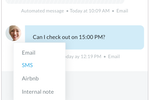 Guesty Software - Reply to guests through all channels including Airbnb, email, SMS, or right an internal note
