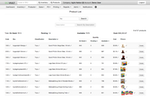 SkuVault screenshot: Search central product list