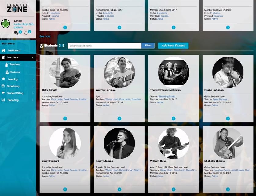 TeacherZone member management screenshot