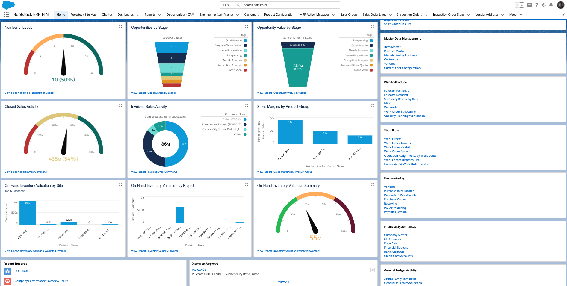 Rootstock Dashboard Overview