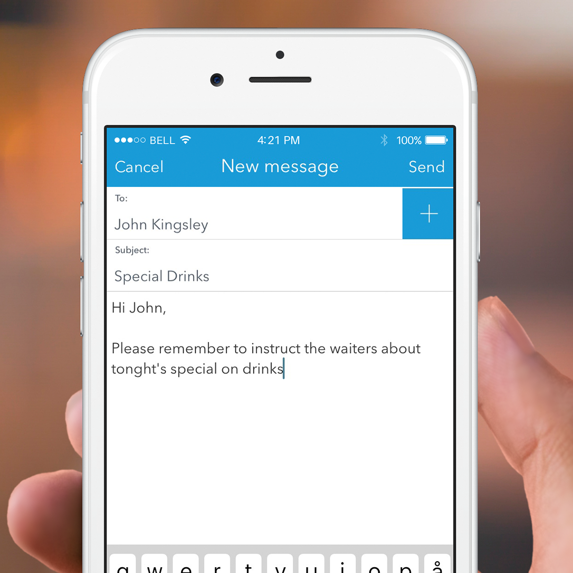 App: Easily communicate with staff