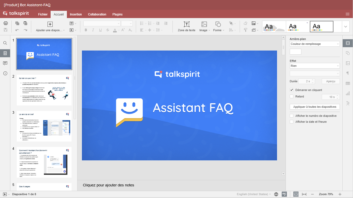 OfficeNow : create, save, share and co-edit office documents (slides, spreadhsheets, docs) inside Talkspirit to increase your productivity