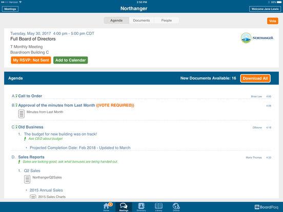 BoardPaq Software - Agenda organizer
