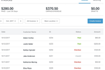 Square Invoices screenshot: Invoices can be filtered by status, location, and date
